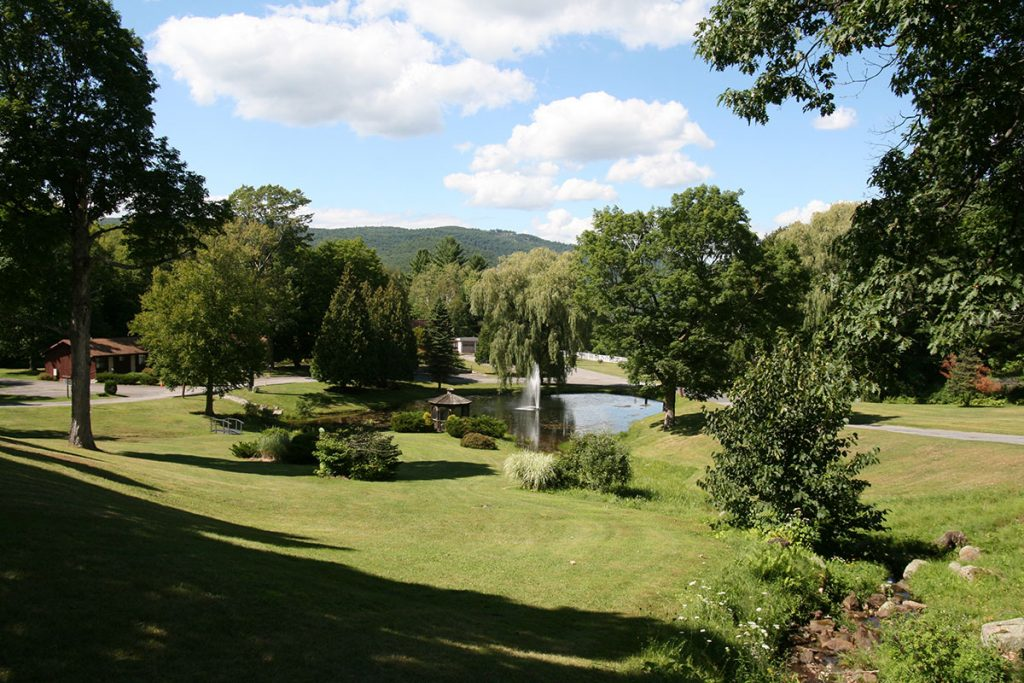 Outdoor areas with views of Prospect Mountain